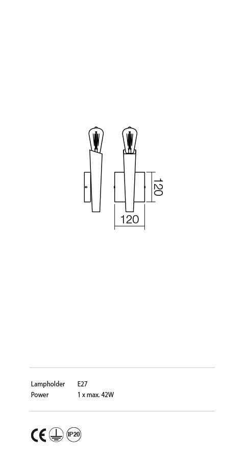 Incanti IGL W1 06 12 GALEA Fali lámpa