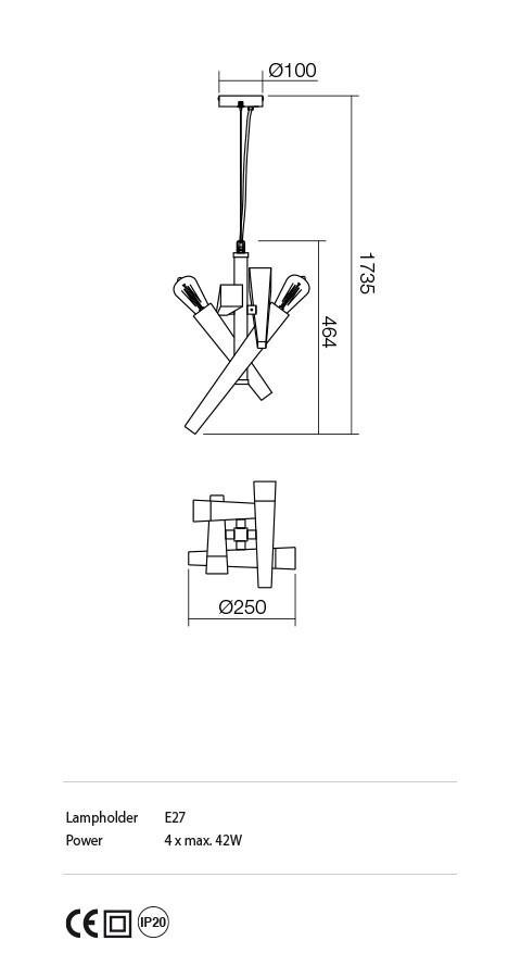 Incanti IGL P4 06 12 GALEA lámpa Függeszték