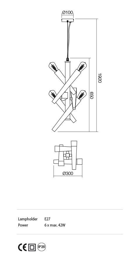 Incanti IGL P6 06 12 GALEA lámpa Függeszték
