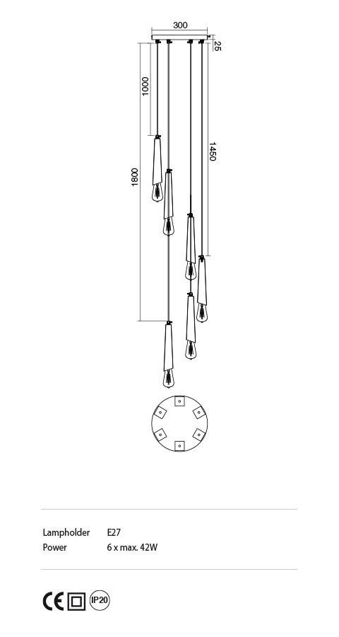 Incanti IGL PR6 06 12 GALEA lámpa függeszték
