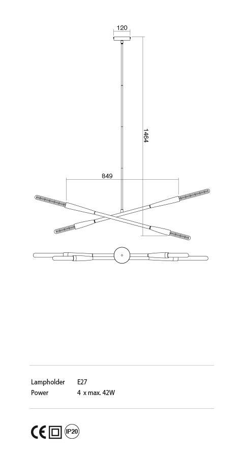 Incanti IHV P4 06 04 HAVANA lámpa Függeszték