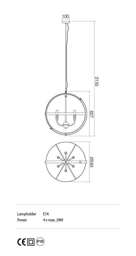 Incanti ISD P6 06 12 SIDERIA Csillár