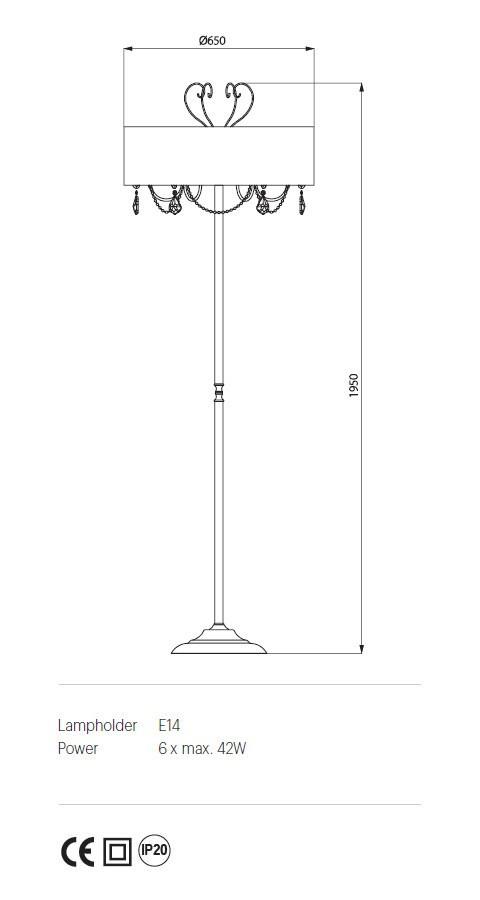 Incanti IDE F6 04 06 DESIDERIO Állólámpa