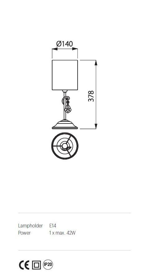Incanti IDE T1S 04 06 DESIDERIO Asztali lámpa
