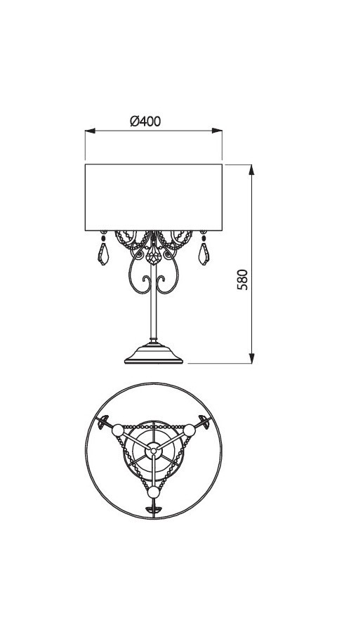 Incanti IDE T3B 05 02 DESIDERIO Asztali lámpa
