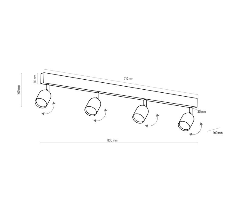 TK Lighting TK-1024 Top spotlámpa