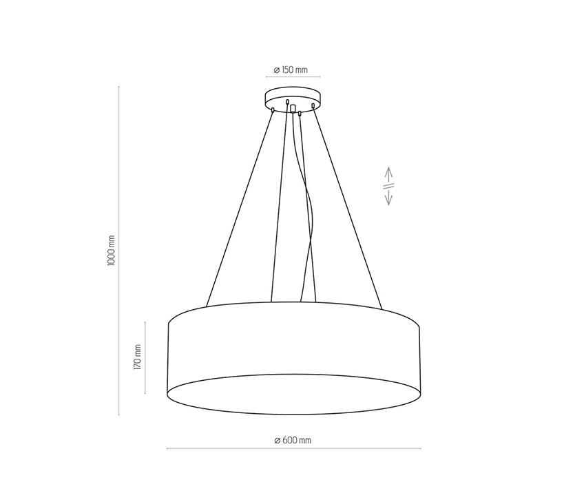 TK Lighting TK-1037 Rondo függesztett lámpa