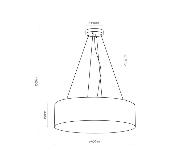 TK Lighting TK-1038 Rondo függesztett lámpa