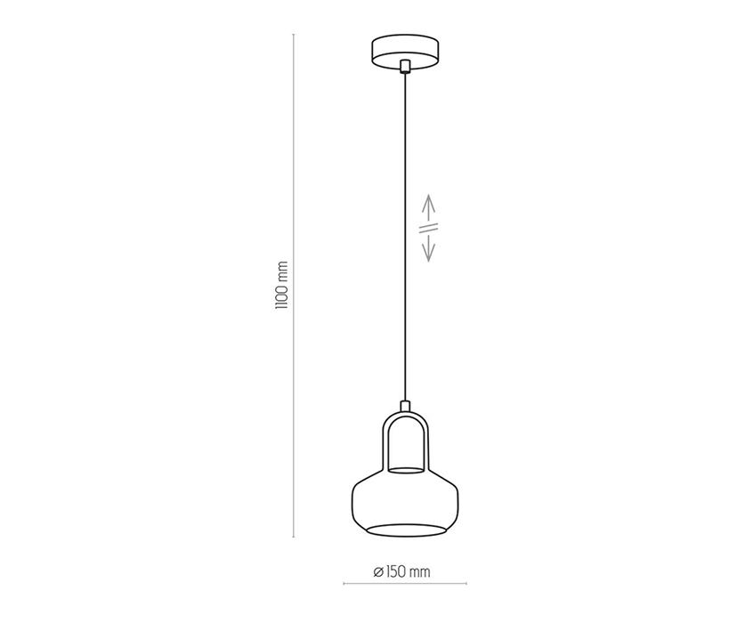 TK Lighting TK-2320 Vichy függesztett lámpa
