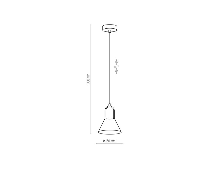 TK Lighting TK-2430 Vichy függesztett lámpa