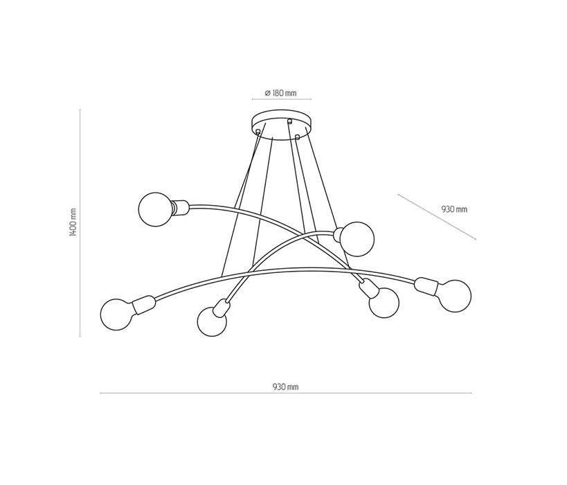 TK Lighting TK-2728 Helix függeszték