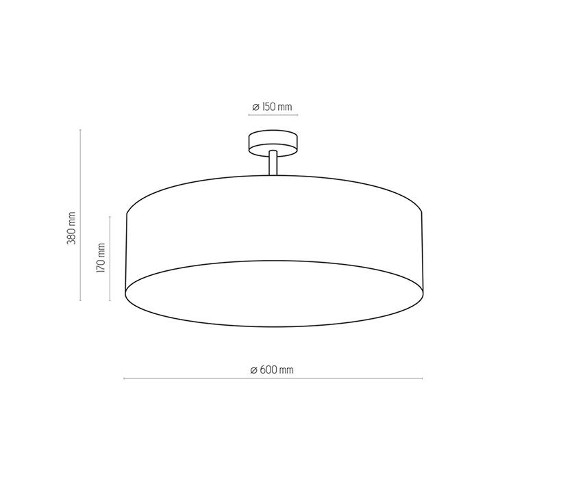 TK Lighting TK-2771 Rondo mennyezeti lámpa