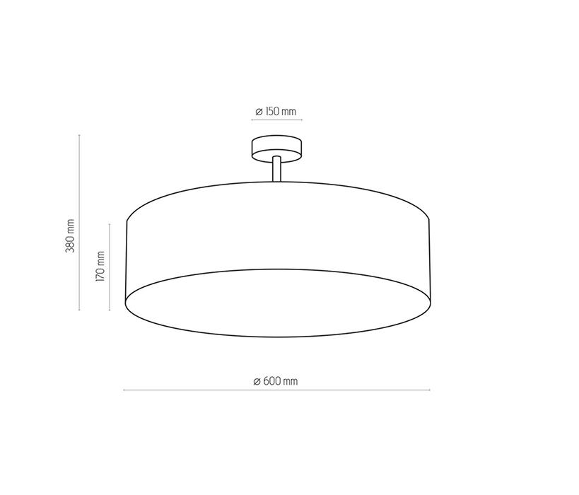 TK Lighting TK-2772 Rondo mennyezeti lámpa
