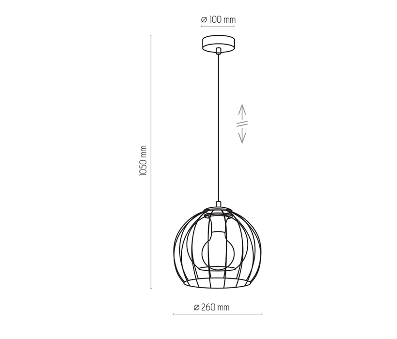 TK Lighting TK-3154 Universo függesztett lámpa