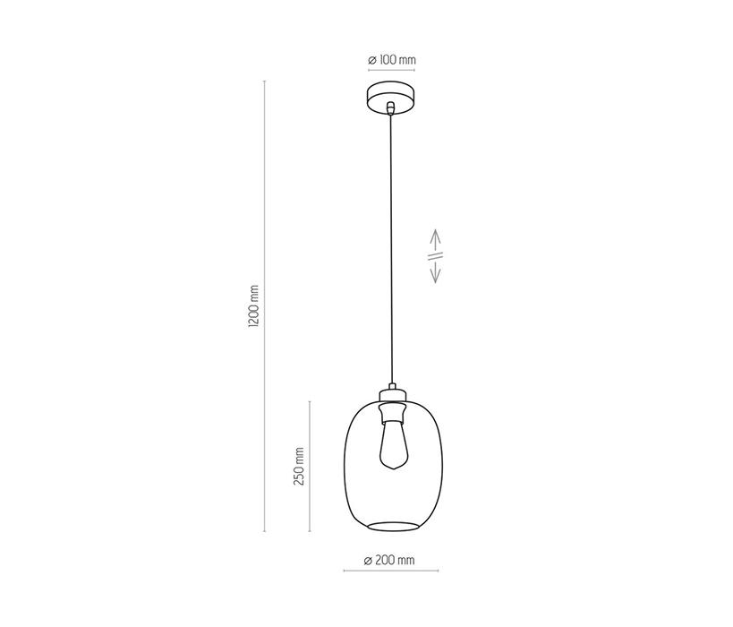 TK Lighting TK-3180 Elio függesztett lámpa