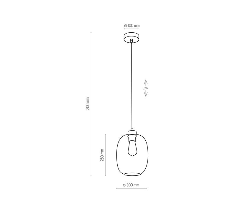 TK Lighting TK-3181 Elio függesztett lámpa