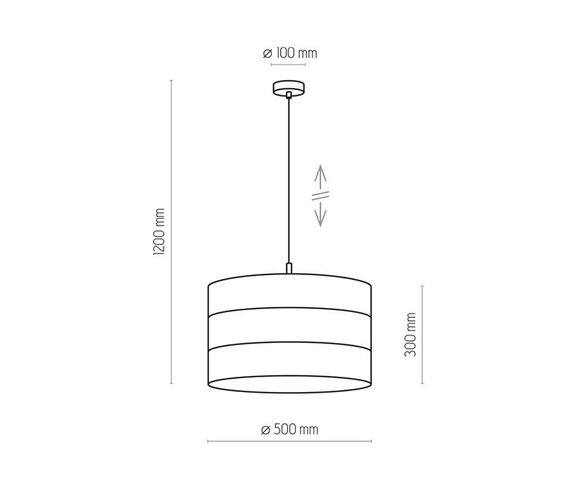 TK Lighting TK-3211 Tago függesztett lámpa