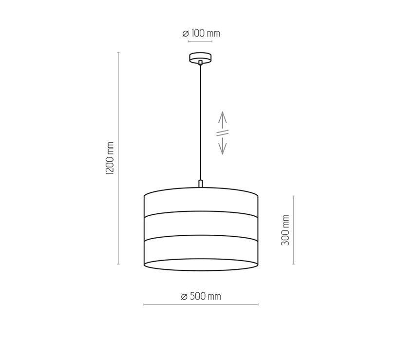 TK Lighting TK-3222 Tago függesztett lámpa