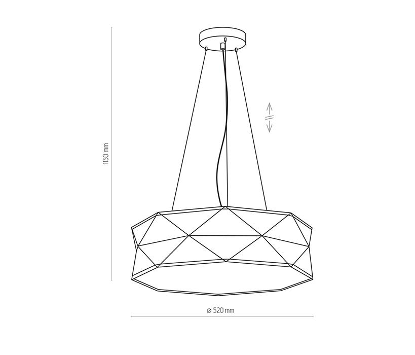 TK Lighting TK-3312 Kantoor függesztett lámpa