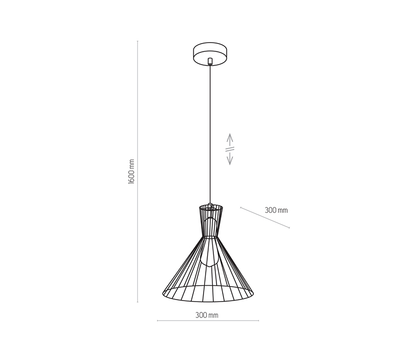 TK Lighting TK-3350 Sahara függesztett lámpa