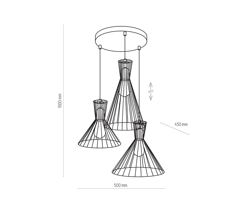 TK Lighting TK-3351 Sahara függesztett lámpa