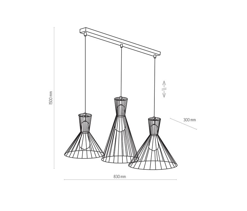 TK Lighting TK-3352 Sahara függesztett lámpa