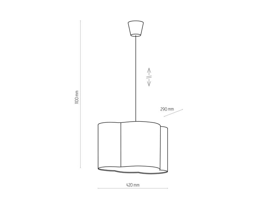 TK Lighting TK-3360 Cloud függesztett lámpa