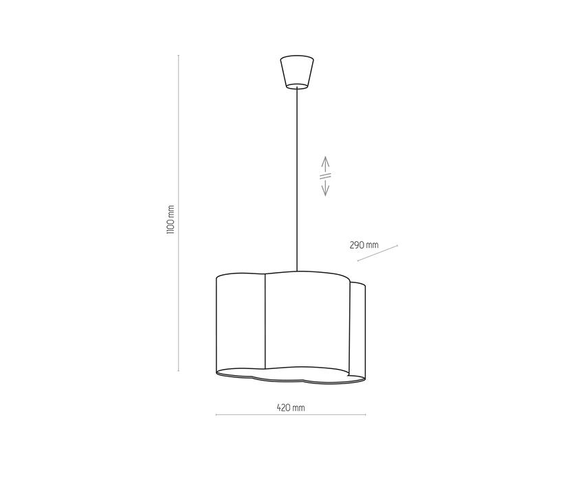 TK Lighting TK-3361 Cloud függesztett lámpa