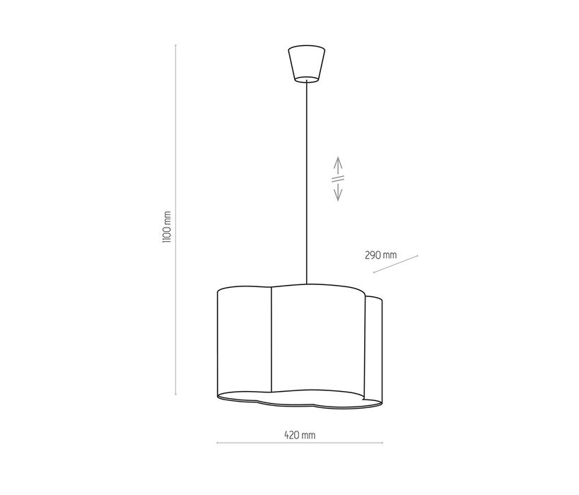 TK Lighting TK-3362 Cloud függesztett lámpa