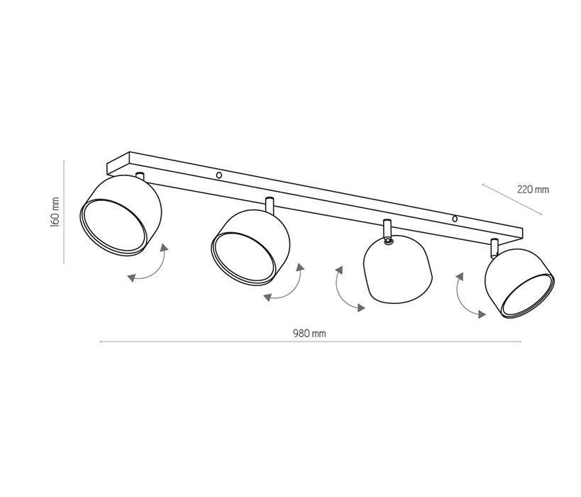 TK Lighting TK-3417 Altea spotlámpa