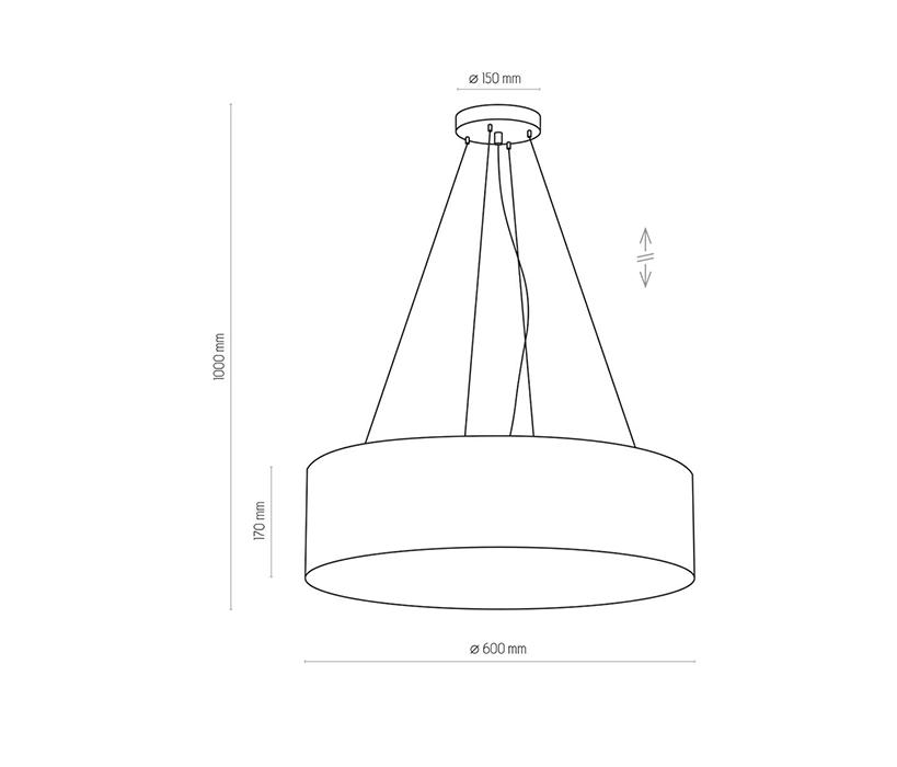 TK Lighting TK-3988 Rondo függesztett lámpa