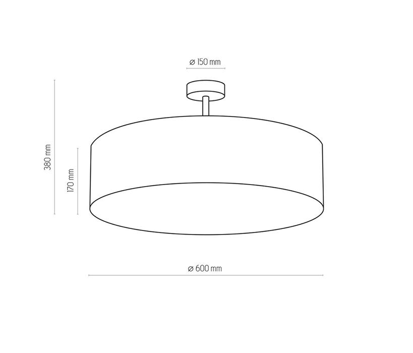 TK Lighting TK-3998 Rondo mennyezeti lámpa