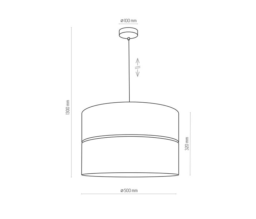 TK Lighting TK-4346 Hilton függesztett lámpa