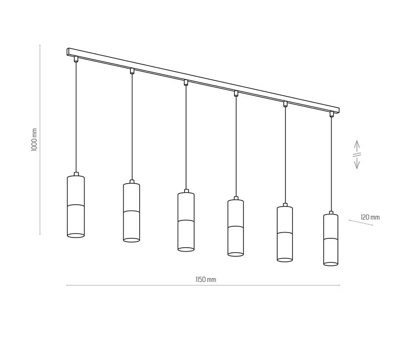 TK Lighting TK-4358 Elit függesztett lámpa