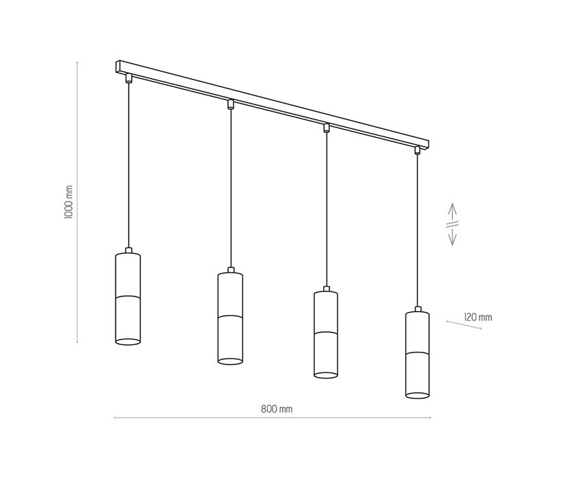 TK Lighting TK-4367 Elit függesztett lámpa