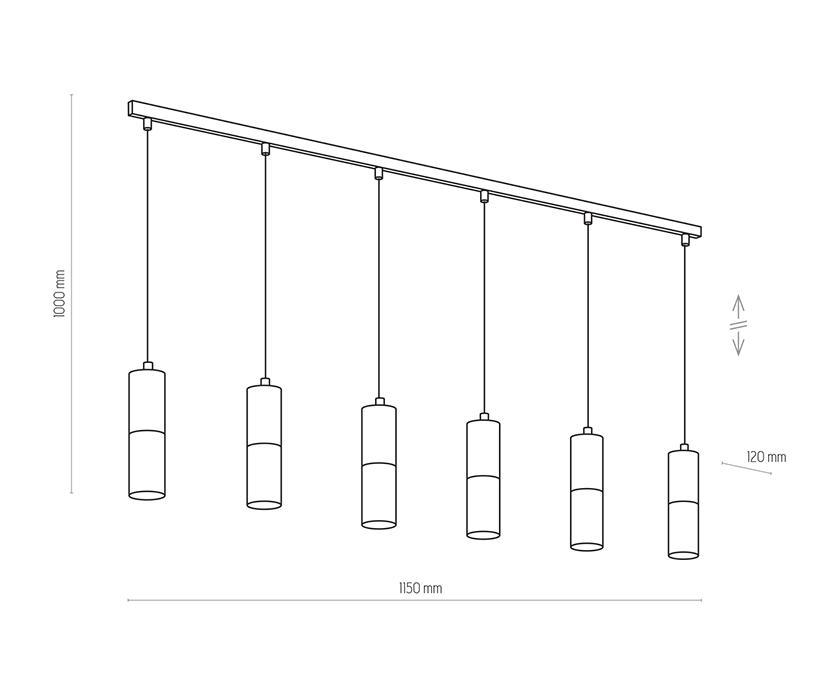 TK Lighting TK-4368 Elit függesztett lámpa