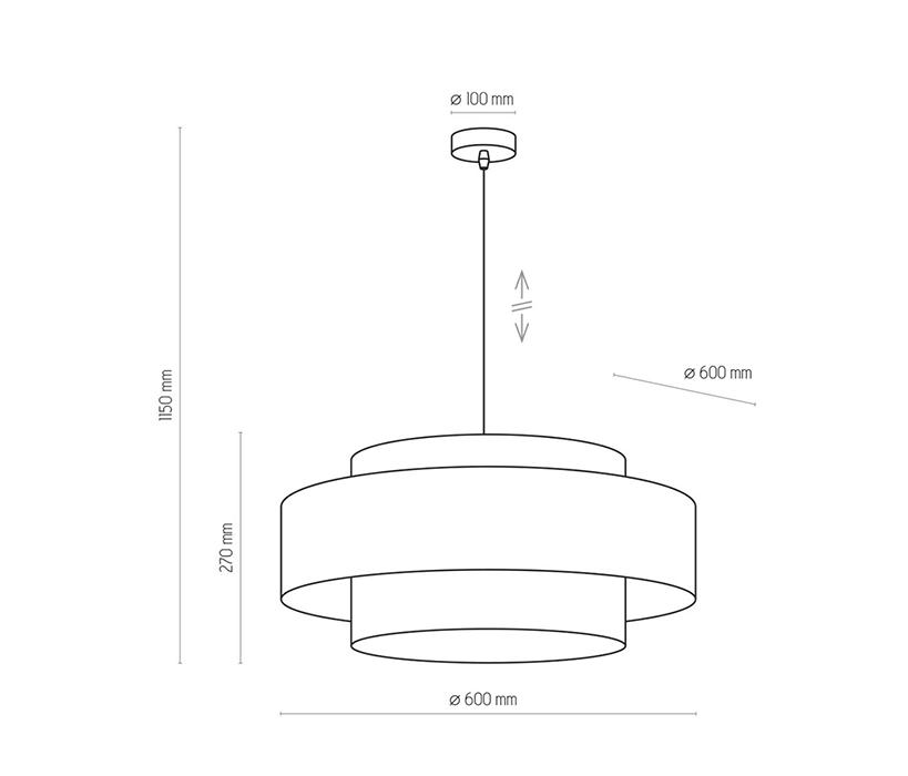 TK Lighting TK-4376 Calisto függesztett lámpa