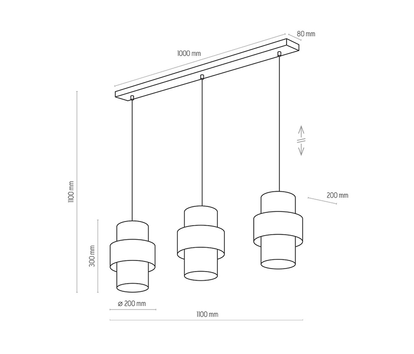 TK Lighting TK-4378 Calisto függesztett lámpa