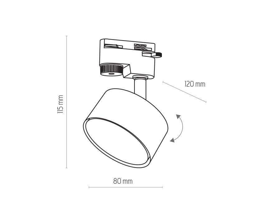 TK Lighting TK-4397 Tracer sínrendszeres lámpa