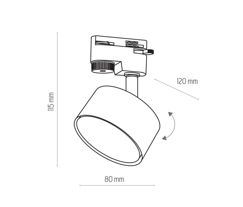 TK Lighting TK-4398 Tracer sínrendszeres lámpa
