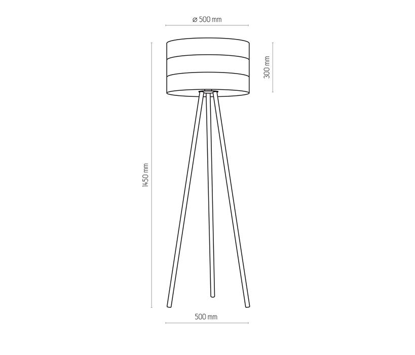 TK Lighting TK-5055 Tago állólámpa