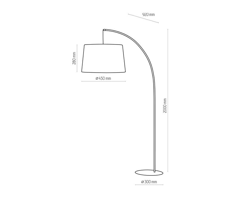 TK Lighting TK-5075 Hang állólámpa