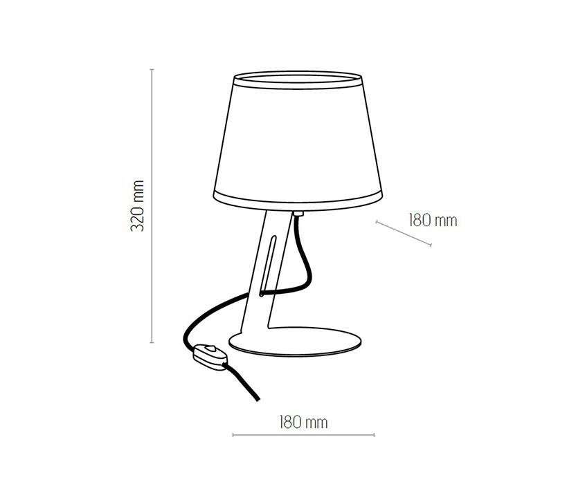 TK Lighting TK-5132 Gracja asztali lámpa