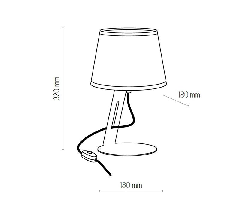 TK Lighting TK-5133 Gracja asztali lámpa