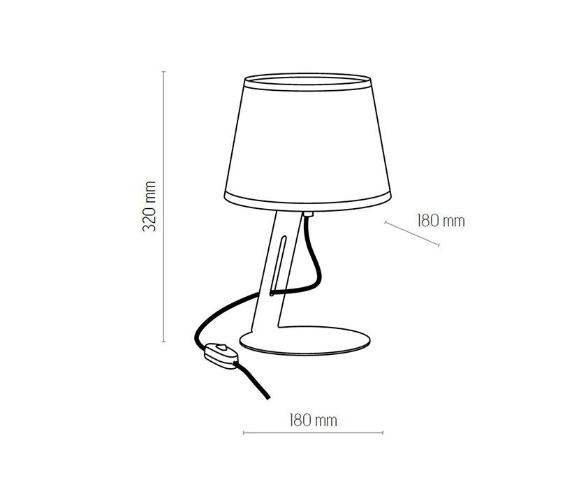 TK Lighting TK-5134 Gracja asztali lámpa