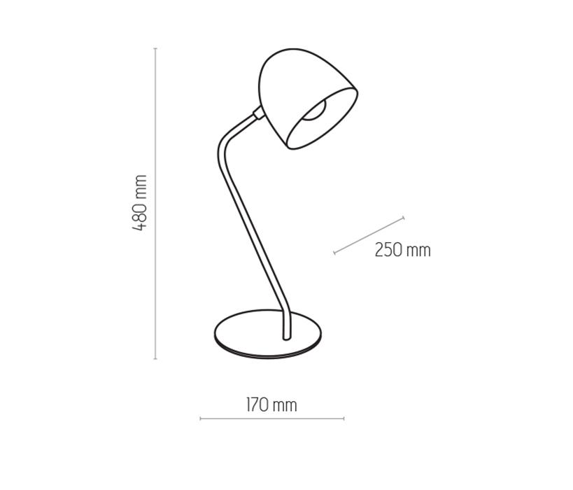 TK Lighting TK-5193 Soho íróasztali lámpa