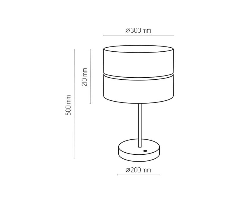 TK Lighting TK-5472 Hilton asztali lámpa