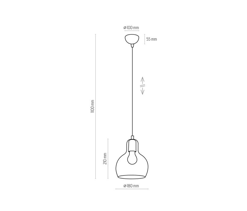 TK Lighting TK-599 Mango függesztett lámpa