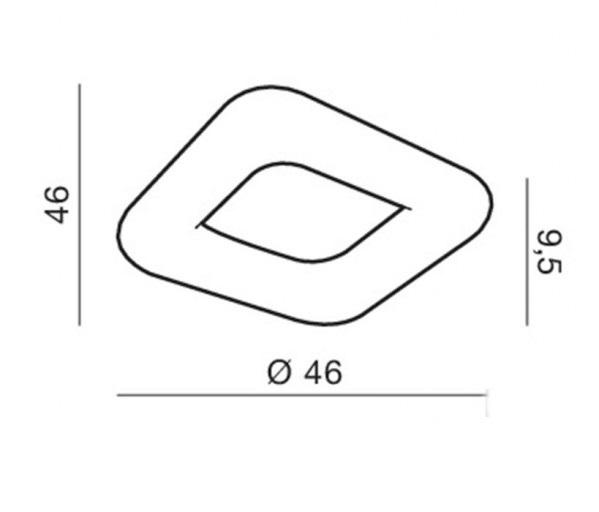 AZzardo AZ-2664 Donut Square távirányítós LED mennyezeti lámpa