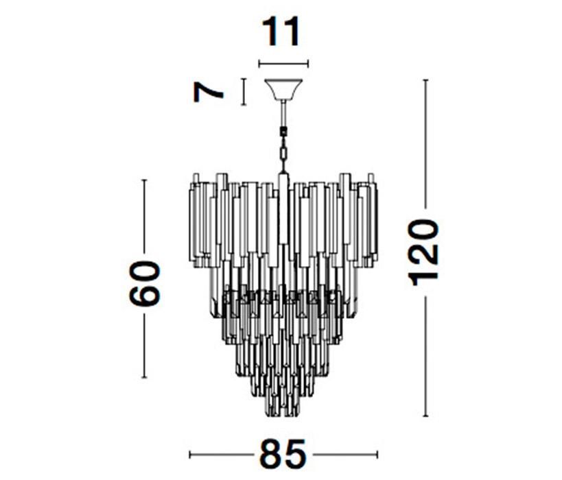Nova Luce NL-9050120 Grane függesztett lámpa